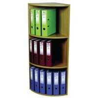 ROTADEX CORNER UNIT 3 TIER LT OAK