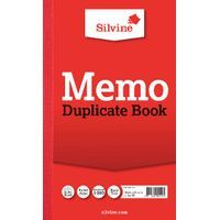SILVINE DUP BOOK RED 213X125MM PK 6