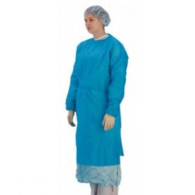 Patient Disposable Gowns Long Sleeve With Cuffs Blue [Pack of 50]