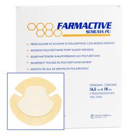 Farmactive adhesive Heel shape dressing foam island 20cm x 20cm (Pack of 5)