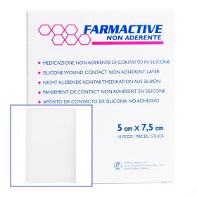 Farmactive Silicone Wound contact non-adherent layer 5cm x 7.5cm (Pack 10)