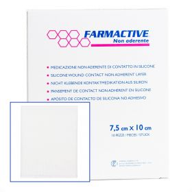 Farmactive Silicone Wound contact non-adherent layer 8cm x 10cm (Pack 10)
