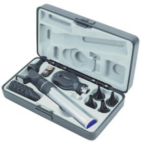 Keeler 1729-P-1023 Practitioner Otoscope Ophthalmoscope Diagnostic Set with 3.6V Rechargeable Slim Line Handle