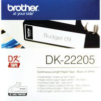 BROTHER LARGE WHT TAPE 62MM X 30.48M