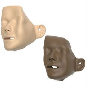 Mannikin Faces Adult Dark Skin x 6