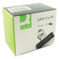 Q-CONNECT GRIP CLIP 51MM PK10