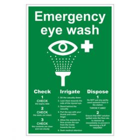 Emergency Eyewash Sign Vinyl