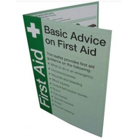 First Aid Guidance Leaflet Pack of 20