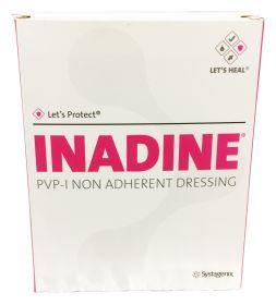 Inadine Povidone Iodine Non-Adherent Dressing 9.5cm x 9.5cm x 10