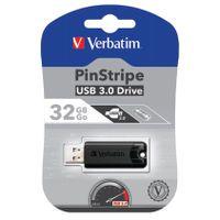 32GB BLACK PINSTRIPE USB 3.0 DRIVE