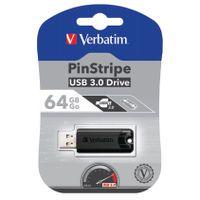 64GB BLACK PINSTRIPE USB 3.0 DRIVE