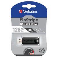 128GB BLACK PINSTRIPE USB 3.0 DRIVE