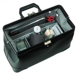 Albert waeschle Bollmann Practicus Leather Case, Black