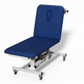 Plinth 2000 2 Section Electric Treatment Couch - DARK BLUE