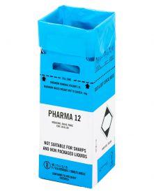 Clinisafe 12 Litre Cardboard Carton (BLUE) [Pack of 10]
