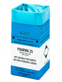 Clinisafe 25 Litre Cardboard Carton (BLUE) [Pack of 10]
