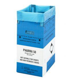 Clinisafe 50 Litre Cardboard Carton (BLUE) [Pack of 10]