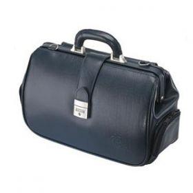 Acton Leather Doctors Bag - Blue