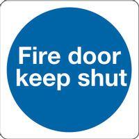 MANDATORY SIGN - FIRE DOOR KEEP SHUT