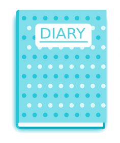 2019 Appointment Diary A5 Day to Page Colour Black/Blue Sat/Sun [Pack of 1]