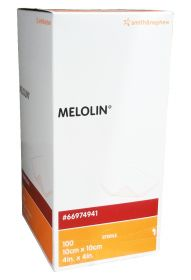 Melolin Sterile Low Adherent Absorbent Dressing 10cm x 10cm [Pack of 100]