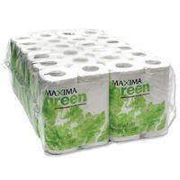 MAXIMA GREEN 200SHT TOILET ROLL WHT