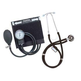 Emerald Sphygmomanometer & Sprague Stethoscope Set – Black [Pack of 1]
