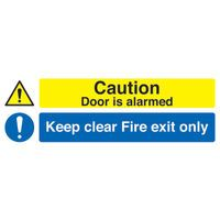 SIGN FIRE EXIT ONLY CAUTION DOOR ALA