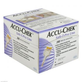 Accu-Chek Safe-T-Pro Uno Single Use Lancets [Pack Of 200]
