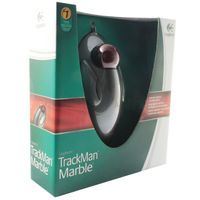 LOGITECH MARBLE MOUSE GREY/RED