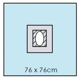 Drape 76cm X 76cm Fenestrated 6cm X 8cm - Sterile [Pack Of 30]