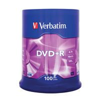 VERBATIM DVD+R 16X 100PK 275-3985