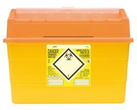 Sharpsafe Sharps Container, Orange Lid - 24 Litres [ Pack of 1]
