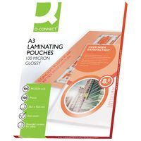 Q-CONNECT LAMINATING POUCH A3 PK100