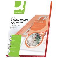 Q-CONNECT LAMINATING POUCH A4 PK100