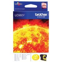 BROTHER LC980 INK CRT YELLOW LC980Y