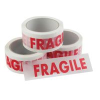 VINYL TAPE FRAGILE WHTE/RED 50MMX66M