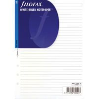 FILOFAX INSERTS WHITE RULED NOTEPAPR