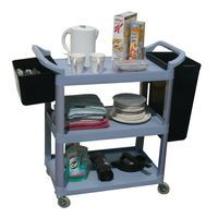 GPC 3 SHELF SERVICE GREY TROLLEY