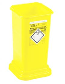 Clinisafe 5.5 Litre Container - Yellow [Pack of 20]