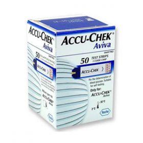 Accu-Chek Aviva Glucose Test Strips [Pack of 50]