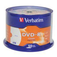 VERBATIM DVD-R 4.7GB 16X PRNTBL PK50
