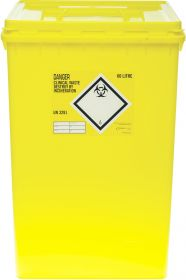 Clinical Waste 60 Litre Container - Yellow [Pack of 10]
