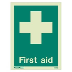First Aid Photoluminescent Sign
