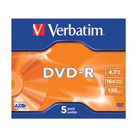VERBATIM DVD-R 4.7GB 16X JC PK5