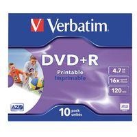 VERBATIM DVD+R 4.7GB 16X PK10