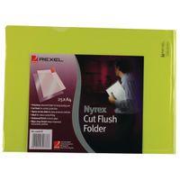 REXEL CUT FLUSH FOLDER PFC/A4C YLW
