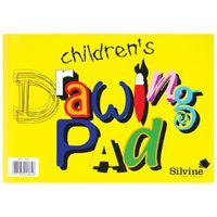 SILVINE CHILDRENS A4 DRAWNG PAD PK12