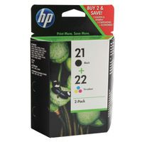 HP 21/22 INKJET CART TWIN PACK