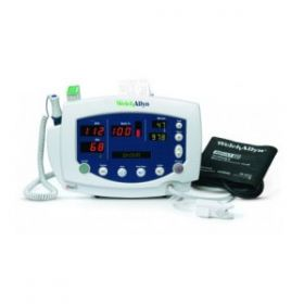 Welch Allyn 53STP-E4 Vital Signs Monitor 300 Series with Blood Pressure Monitor & SPo2 (Masimo) & Temperature & Printer